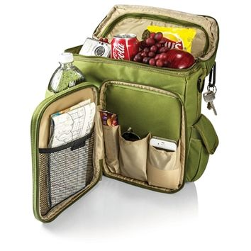 SheilaShrubs.com: Turismo Cooler Backpack - Olive Green & Tan 641-00-120-000-0 by Picnic Time : Coolers