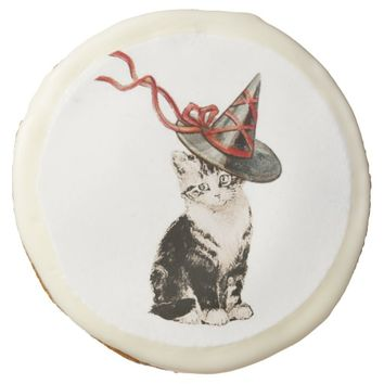 Vintage Kitty Halloween Cookie