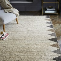 Steven Alan Triangle Edge Wool Shag Rug - Neutral