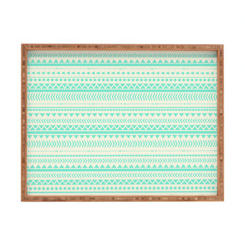 Allyson Johnson Mint Tribal Rectangular Tray