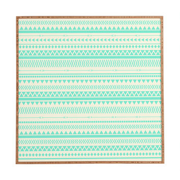 Allyson Johnson Mint Tribal Framed Wall Art