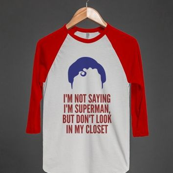 I'm Not Saying I'm Superman But-Unisex White/Red T-Shirt