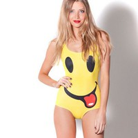 Smiley Face Swimsuit, Smiley Face Bathing suit, Smiley face one piece, Smiley face swim, not Black milk