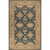 Momeni Persian Garden Teal Blue Rug - 039425358380 - Wool Rugs - Area Rugs by Material - Area Rugs