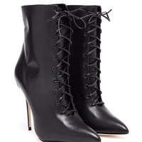 MANOLO BLAHNIK | Leather Bordin Boot | Browns fashion & designer clothes & clothing