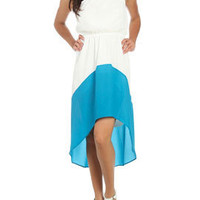 Colorblock High-Low Dress | Shop Dresses at Arden B