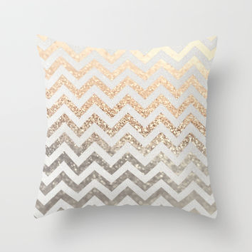 GATSBY GOLD & SILVER Throw Pillow by Monika Strigel | Society6