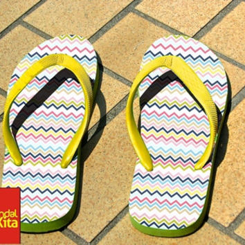 Flip Flops - Amazing Aztec on Wood