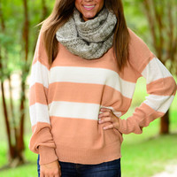 Cozy Up Sweater, Pink/White