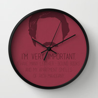 Ron Burgundy Wall Clock by OurbrokenHouse | Society6