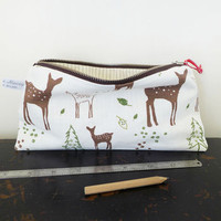 Long Fallow Deer Zip Pouch