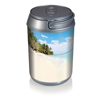 SheilaShrubs.com: Mini Can Cooler - Beach Scene Can 691-00-814-000-0 by Picnic Time : Coolers
