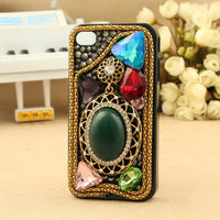 Gullei Trustmart : Bling crystals old fashion studded jewelry charm iphone ipod touch cover [GTMIPC0124] - $36.00-Couple Gifts, Cool USB Drives, Stylish iPad/iPod/iPhone Cases &amp; Home Decor Ideas