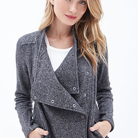 Marled Knit Shawl Collar Jacket