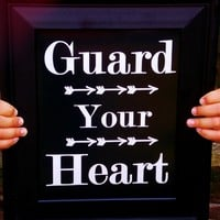 Guard Your Heart Typography Print. 8x10 Word Art. from Evangelina's Closet