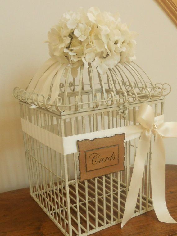 Cheap Wedding Gift Card Holders : Wedding Card Box Birdcage / Wedding from YesMoreFunk on Etsy
