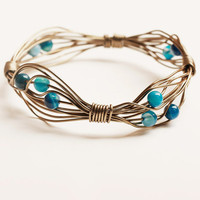 Romantic tones of blue bracelet