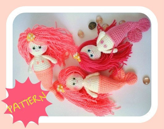 Amigurumi Pattern, Mermaid Girl, PDF from AllSoCute on Etsy