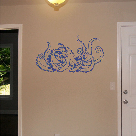 Octopus Wall Decal Nursery Wall Sticker Art