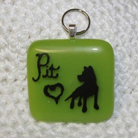 Green Pit Bull Dog Tag or Pendant Customizable by HyattEffect
