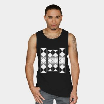 Tank top Black and white shapes by VanessaGF