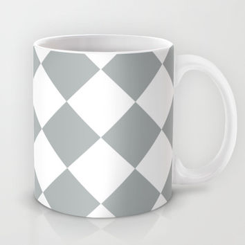 Diamond Grey & White Mug by BeautifulHomes | Society6