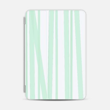 Pale Mint Stripes iPad Mini case by Lisa Argyropoulos | Casetify