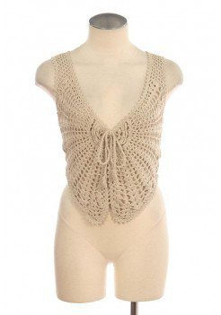 KNITTED LACE VEST @ KiwiLook fashion