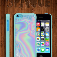 Pastel Metallic Oil Print Apple iPhone 5c Durable Hard Case - In Multiple Colours - Hipster Indie Grunge Vintage Tropical Tumblr