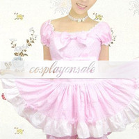 Lolita Costumes Short Sleeves Bow Ruffles Cotton School Lolita Dress [T110349] - $82.00