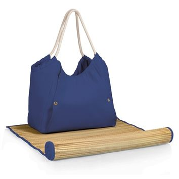 SheilaShrubs.com: Cabo Beach Tote and Mat - Navy 638-00-138-000-0 by Picnic Time : Beach Mats