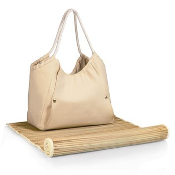 SheilaShrubs.com: Cabo Beach Tote and Mat - Beige/Tan 638-00-190-000-0 by Picnic Time : Beach Mats