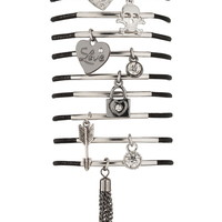 Multi stretch charm bracelet set