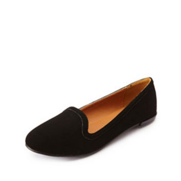 Essential Smoking Slipper Loafers by Charlotte Russe - Black