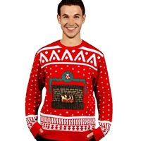 Fireplace Ugly Christmas Sweater Costume - Adult