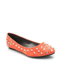 studded-flats BLACK GREEN ORANGE RED TURQUOISE YELLOW - GoJane.com