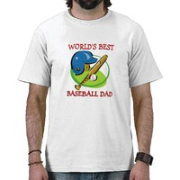 Worlds Best Baseball Dad Tee Shirt from Zazzle.com