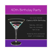 40th Birthday Party Invitation from Zazzle.com