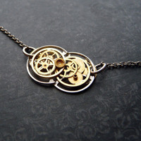 Clockwork Necklace One Hundred Seventeen by amechanicalmind