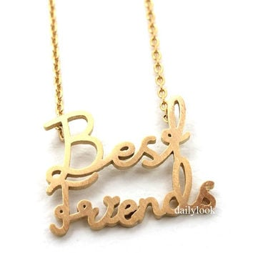 best friends necklace, best friends jewelry, best friends, friendship necklace, gold necklace, girl necklace, bridesmaid necklace, jewelry