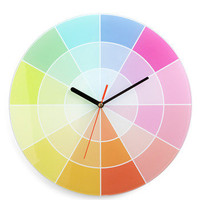 Chroma-logical Order Clock | Mod Retro Vintage Wall Decor | ModCloth.com