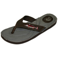 Zep-Pro Brown Leather & Canvas Sandal w/ Redfish Embroidery