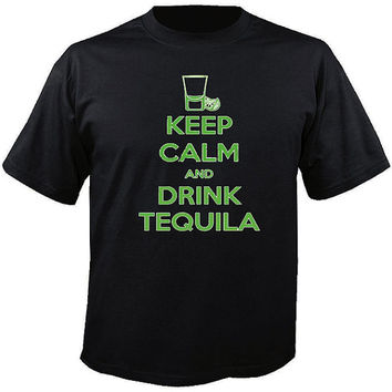 Keep Calm and Drink Tequila T-Shirt great casual summer shirt.