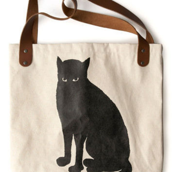 Sunday Market Tote in Cat | Mod Retro Vintage Bags | ModCloth.com