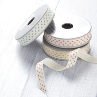 Set Of Three Spotty Ribbon