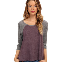 Alternative Eco Jersey Raglan Baseball Tee Eco True Eggplant/Eco Grey - Zappos.com Free Shipping BOTH Ways