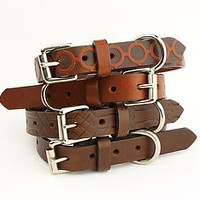 Thin Leather Dog Collar