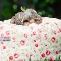 Donut Dog Bed Vintage Flowers