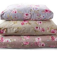 English Rose Floral Cushion Dog Bed