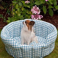 Gingham Pet Bed